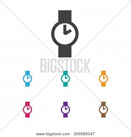 Vector Illustration Of Business Symbol On Wristwatch Icon