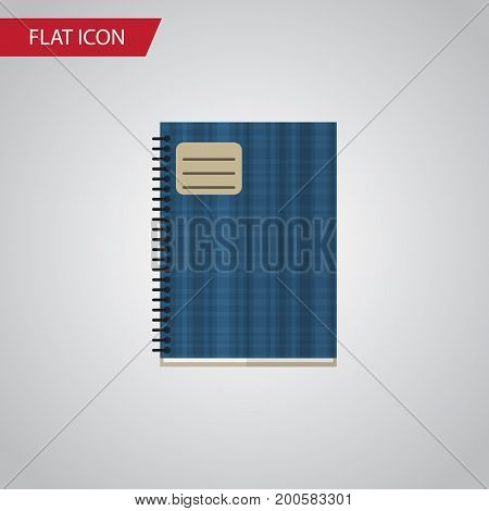 Copybook Vector Element Can Be Used For Copybook, Notebook, Notepad Design Concept.  Isolated Notebook Flat Icon.