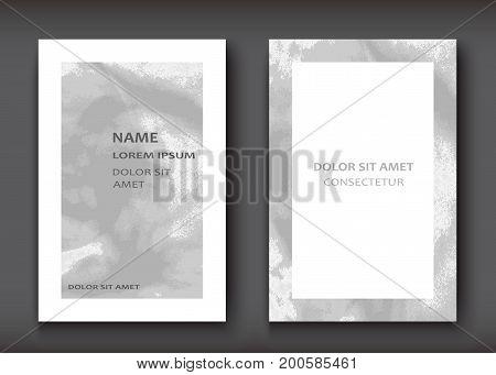 White Grey Gradient Watercolor Explosion Shape Artistic Covers D