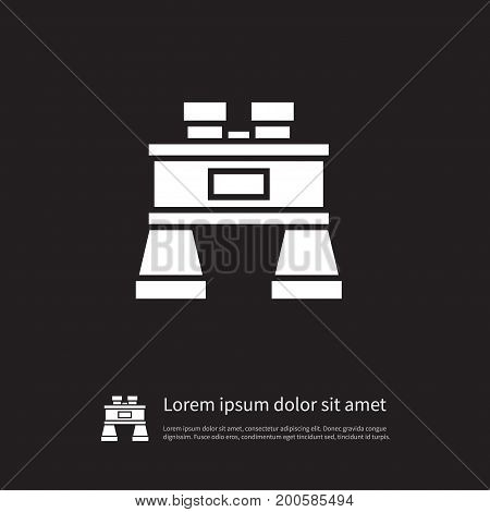 Glass Vector Element Can Be Used For Binoculars, Glass, Vision Design Concept.  Isolated Binoculars Icon.