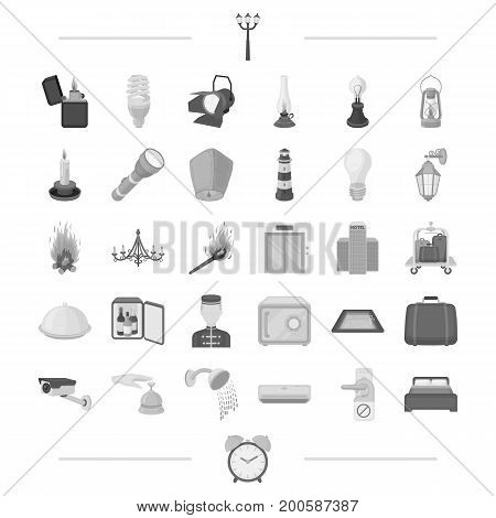 rest, trip, business and other  icon in black style.appliances, plumbing, equipment, icons in set collection.