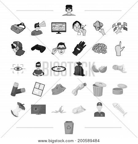 urn, technology, computer and other  icon in black style. ecology, garbage, dump icons in set collection.