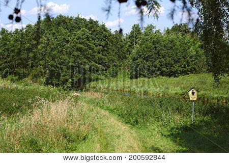 Landscape conservation area Unteres Peenetal (Vorpommern-Greifswald) south of Greifswald Germany.