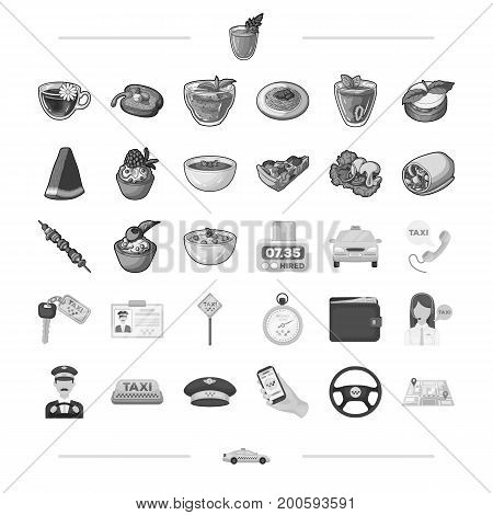 barbecue, rest, trip and other  icon in monochrome style.food, dessert, treats icons in set collection.,