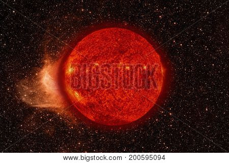 Solar System - Sun. Elements Of This Image Furnished By Nasa.