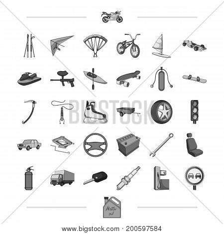 components, business, tradeand other  icon in black style., attributes, sport, competitions, icons in set collection.