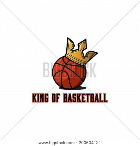 Basketball ball logo basket teams tournament emblem template streetball sport sticker or t-shirt print mockup