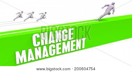 Change Management as a Fast Track To Success 3D Illustration Render
