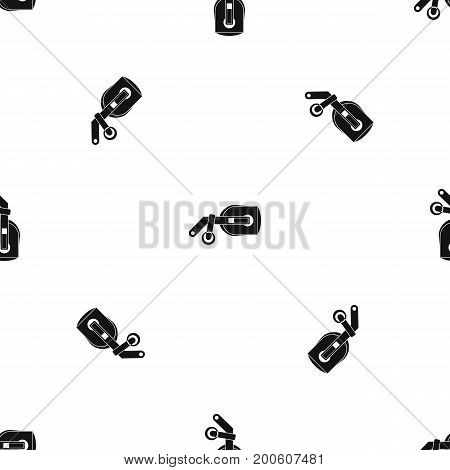 Game reality glasses pattern repeat seamless in black color for any design. Vector geometric illustration