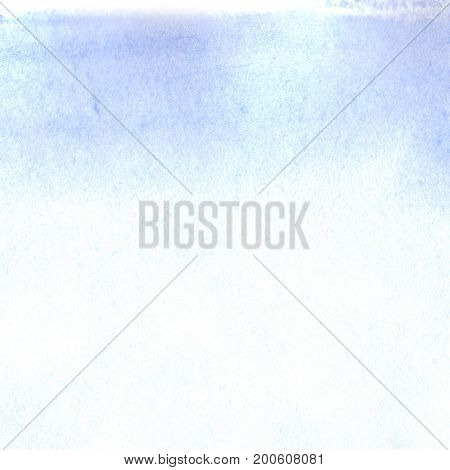 Watercolor blue white sky template texture background
