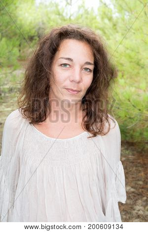 Portrait Of Beautiful 40 Year Old Woman