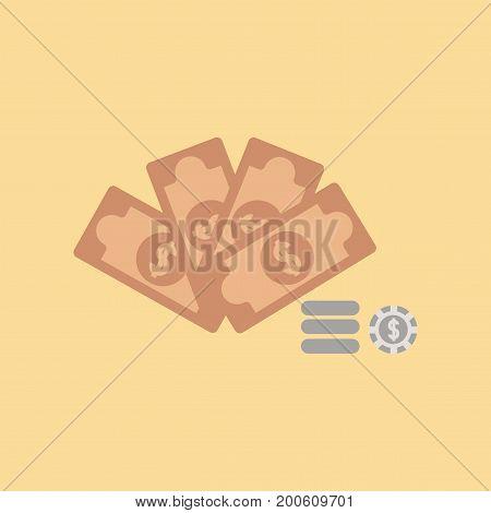 flat icon on stylish background Money dice chips