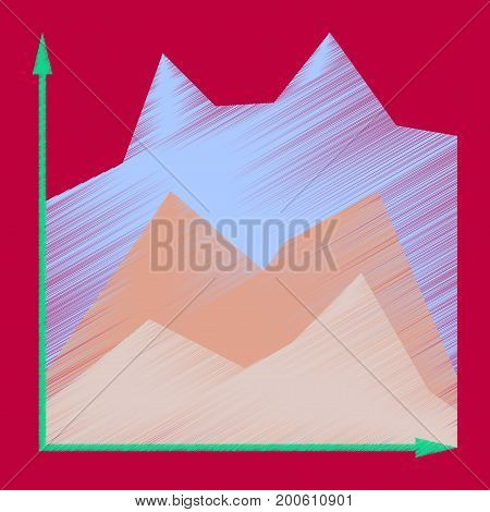 flat shading style icon Financial schedule economic