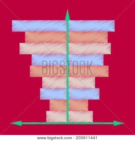 flat shading style icon 3d chart marketing