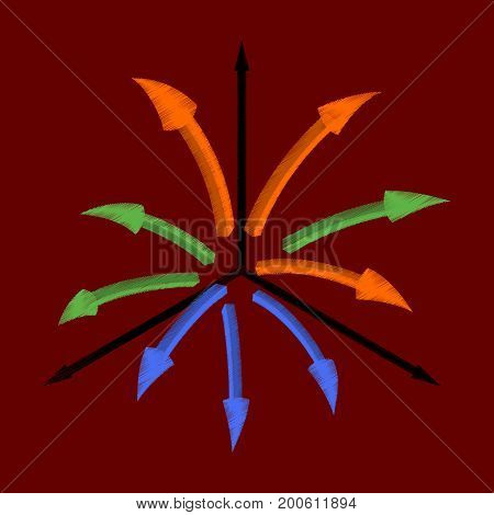 flat shading style icon Arrow chart communication