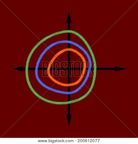 flat shading style icon Chart thin circles