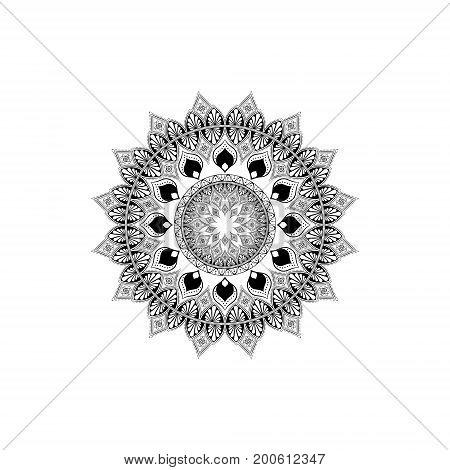 Vintage Decorative Mandala. Oriental Pattern, Vector Illustration. Decorative Round Ornaments. Weave