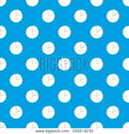 Business pie chart pattern repeat seamless in blue color for any design. Vector geometric illustration