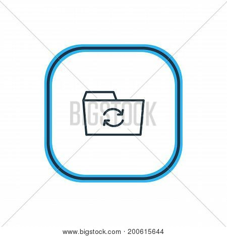 Beautiful Folder Element Also Can Be Used As Recovery Element.  Vector Illustration Of Refresh Outline.