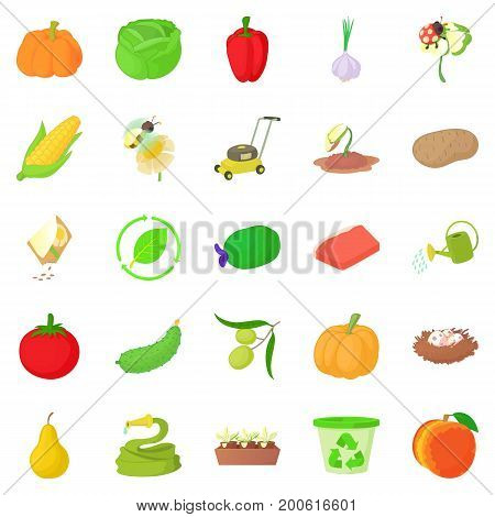 Arboriculture icons set. Cartoon set of 25 arboriculture vector icons for web isolated on white background