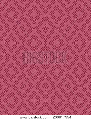 Seamless geometrical red wallpaper design rhombus pattern