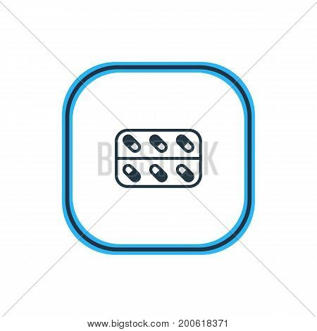 Beautiful Medicine Element Also Can Be Used As Medicine  Element.  Vector Illustration Of Capsule Outline.