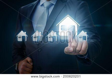 Businessman Picks A House .