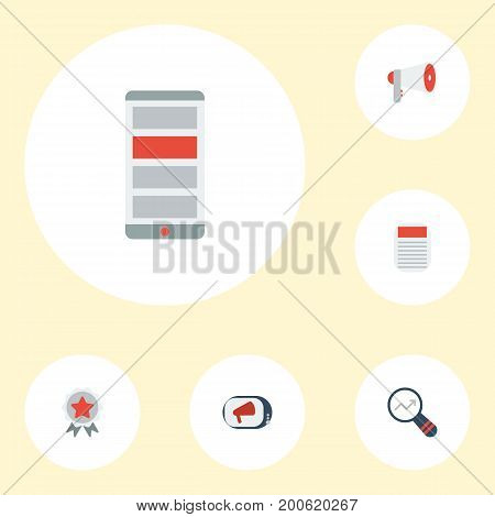 Flat Icons Television, Journal, Application And Other Vector Elements