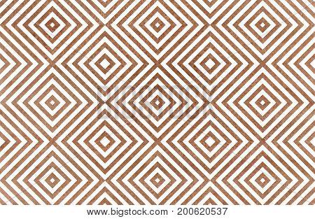 Geometrical Pattern In Brown Color.