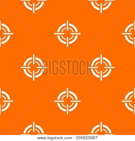 Target pattern repeat seamless in orange color for any design. Vector geometric illustration
