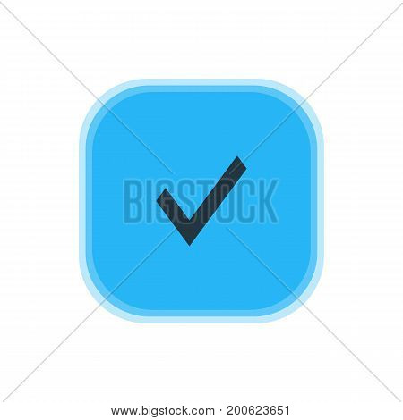 Beautiful Interface Element Also Can Be Used As Confirm Element.  Vector Illustration Of Approve Icon.