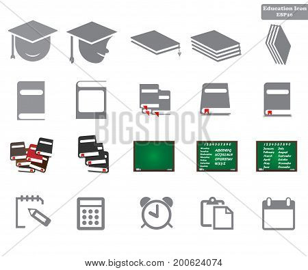 Simple Set Vector Icon. Education Related Color Vector Line Icons. Contains Such Icons As Graduation