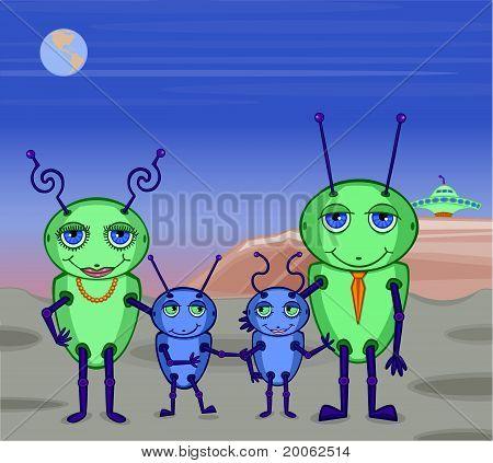 Alien Family Photo