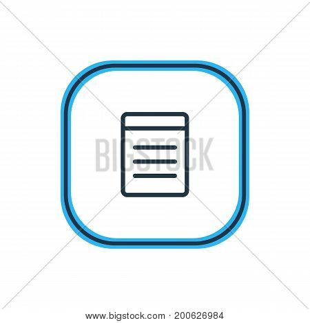 Beautiful Annex Element Also Can Be Used As Document Element.  Vector Illustration Of List Outline.