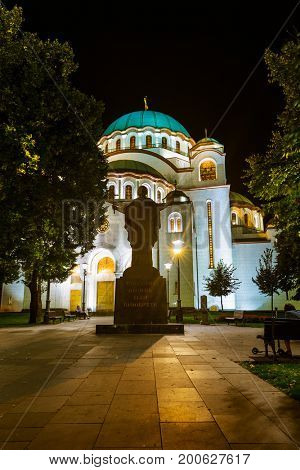 St. Sava Cathedral - Belgrade - Serbia - architecture travel background