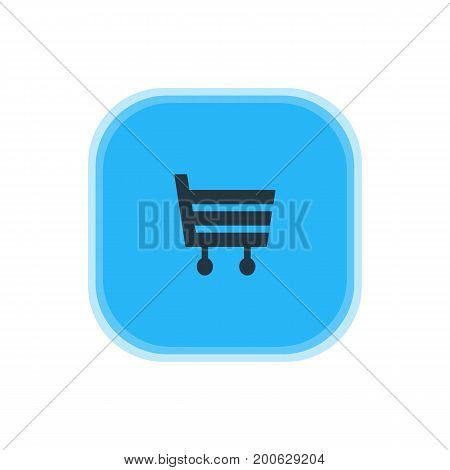 Beautiful Travel Element Also Can Be Used As Shopping Cart Element.  Vector Illustration Of Market Icon.