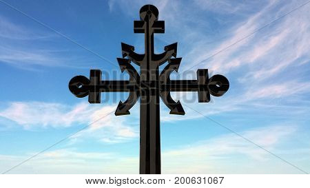 Cross dedicated to the victims of the sea in Rewa, Poland, Europe