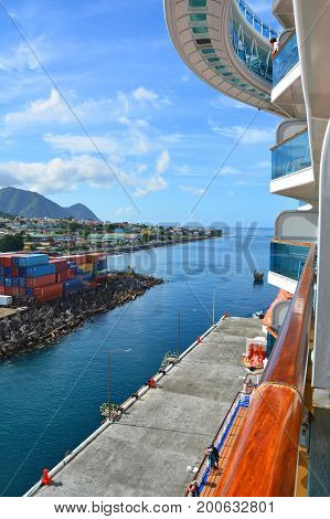 Royal Princess Ship Docked In Dominica