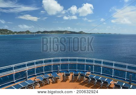 View from cruise ship on Grenada island Caribbean