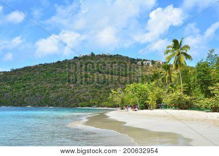 Magens Bay beach in Saint Thomas US Virgin Islands