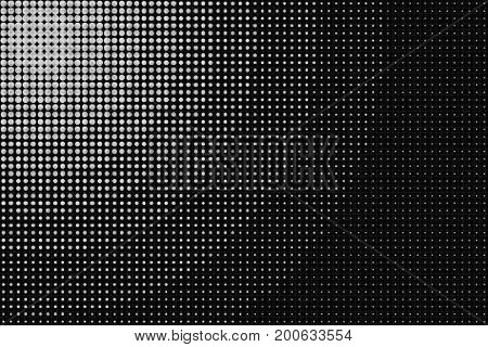 Black and White Radial Dotted Halftone Abstract Pattern Background