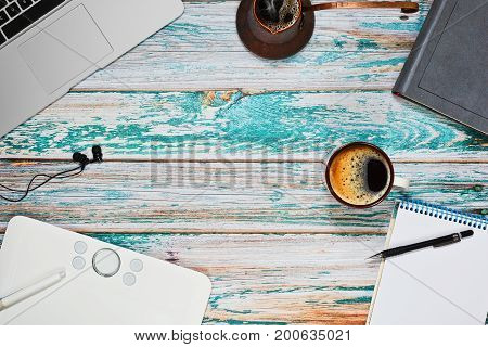 Freelance Illustrator Workspace Concept