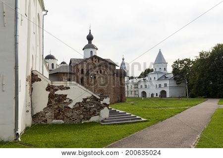 Yaroslav's court a medieval Orthodox churches the Church of St. Paraskeva St. Nicholas Cathedral assumption Church bell tower