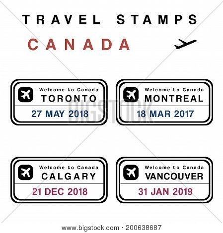 Canada Passport Stamps