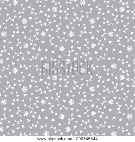 Floral seamless pattern of flowers and buds. The background lace for fabric porcelain Wall-paper paper. White flowers.