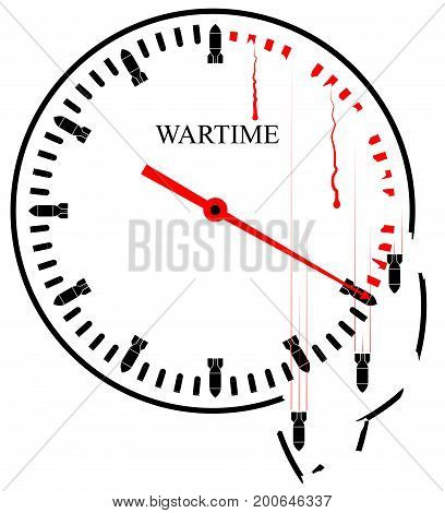 War Hours - a symbolic image Every minute takes lives and destroys everything around. Terrorism and predatory wars