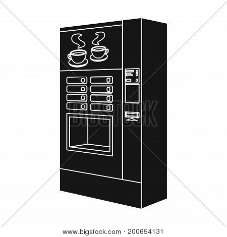 A machine for making coffee. Office equipment single icon in black style Isometric vector symbol stock illustration .