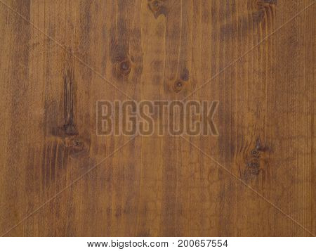 Old Golden Pine Wooden Desk With Annual Circles And Gnarls