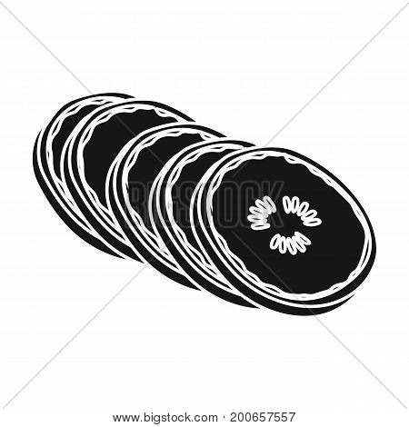 Banana, sweet fruit. A fruit single icon in black style vector symbol stock illustration .