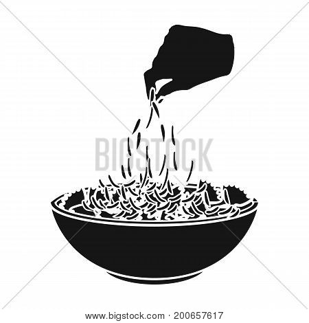 Preparation of food from pasta. Food single icon in black style vector symbol stock illustration .